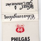 Vintage Phillips Gasoline The All Purpose L.P. Fuel Runge Gas Service Matchbook