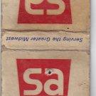Vintage Super America SuperAmerica SA Gasoline Fuel Oil Stations Matchbook Cover