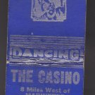 Vintage The Casino Geo & Madeline Lund Dancing Blue & Silver Peshtigo Matchbook