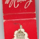 Vtg Retro Currier Hall The University of Iowa Design Red Glossy Matchbook Cover