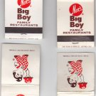 Vtg Retro Lot of Four (4) Marc's Big Boy Restaurant Take or Dine Matchbook Cover
