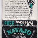Vtg Navajo Bear Paw Talisman Wholesale Catalog Native American Indian Matchbook