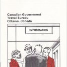 Vintage Canada Candadian Government Ottawa Border Crossing Information Pamphlet