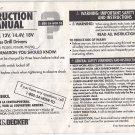 """Black & Decker 3/8"""" 9.6V 12V 14.4V 18V Cordless Drill Drivers Instruction Manual"""