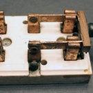 Vtg Telephone Ceramic Porcelain Knife Blade Switch Breaker 15A 125V Copper Poles