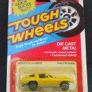 Vtg 1981 Kidco Tough Wheels 1963 63 Corvette Yellow #11500 Die-Cast Metal NOC
