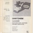 1980 80 80's Sears Craftsman Sander Dual Motion Owners Manual Model: 315.11680