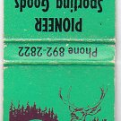 Pioneer Sporting Goods Guns Ammo Belle Fourche South Dakota SD Buck Matchbook