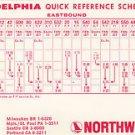 Vtg Northwest Orient Airlines Philadelphia Quick Reference Schedule