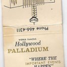 "Vtg World Famous Hollywood Palladium 'Musical ""Home"" of Lawrence Welk Matchbook"