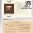 1993 22k Gold Replica Stamp Patsy Cline Grand Ole Opry FDC w Informational Card