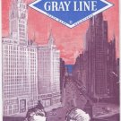 Vintage 1965 Summer See Chicago The Gray Line Brochure Pamphlet Map Sightseeing