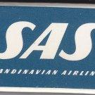 Vtg Scandinavian Airlines System SAS Matchbox Sweden Mini Matchbox Matches