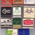 Hotel Motel Club Chicago Scenic Retro Vtg Mixed Matchbook Matches Cover Lot #11