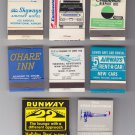 Airport Airlines Airplane Bus Taxi Hotel Mixed Matchbook Matches Cover Lot of 7