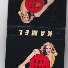 Vtg Kamel Cigarettes Cigarette Pin-Up Pinup Pin Up Girl Est 1913 Matchbook Mint