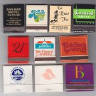 Vtg Leland Brodmoor Canyon CA FL CO Hotel Mixed Matchbook Matchbox Matches Lot