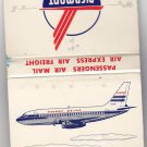 Vtg Piedmont Airlines Airplane DC7 Pacemaker Airport Advertisement Matchbook