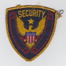 Vintage Security Officer Guard Svc Gold Eagle Black Blue & Red Star Patch Badge