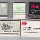 Vtg Wittek Kurt Harig Carr Lane Maurey Manufacturing w Feature Mixed Matchbook