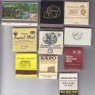 International Ontario Jamaica Lima Cayman Hotel Mixed Matchbook Matches Lot