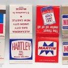 Martin Hartley Checker Oil Motor Gasoline Gas Car Mixed Matchbook Matches Covers
