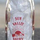 Vtg Sun Valley Dairy Highland Park ILL IL Illinois Half Pint Real Cream Bottle