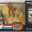 g.i. joe dvd battles 1 Mass device, Snake Eyes, the Baroness, Cobra Trooper, and Sgt. Stalker MISB