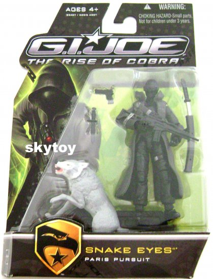 G.I. Joe: The Rise of Cobra - Snake Eyes paris pursuit grey timber MOSC