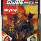 25th gijoe hawk and scarlett with comicbook 1 moc