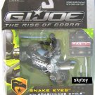 g.i. joe rise of cobra snake eyes with ninja cycle mosc