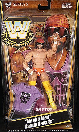 macho man randy savage wwe legends 4 moc - sold out