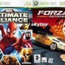marvel ultimate alliance and forza 2 xbox 360
