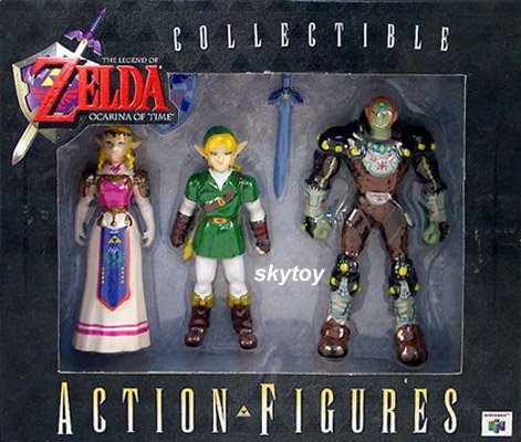 Zelda ocarina of time 3-pack collectible figures limited edition misb
