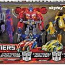 Transformers Rage Over Cybertron 3 Pack  Cybertronian Optimus Prime, Bumblebee and Megatron