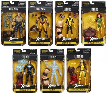 Marvel Legends X-Men 7 figures:  Wolverine, Rogue, Cable, Iceman, Phoenix, Havok, Kitty Pryde