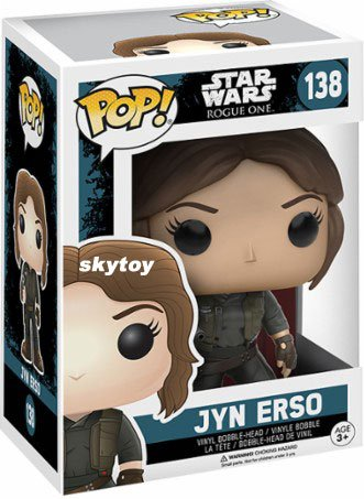 Funko - POP! Star Wars Rogue One: Jyn Erso