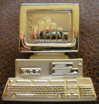 RAFAELIAN Vintage Telephone Rhinestone Brooch