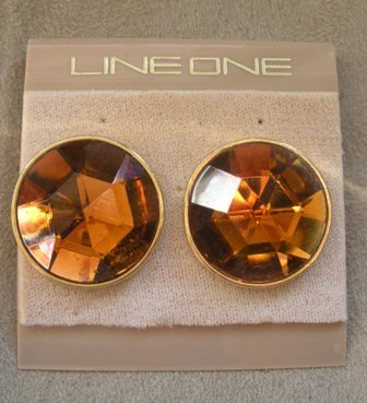 LINE ONE 80�s Vintage Autumn/Fall Post Earrings