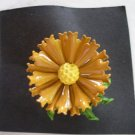 Classic Butterscotch Colored Blooming Flower Brooch