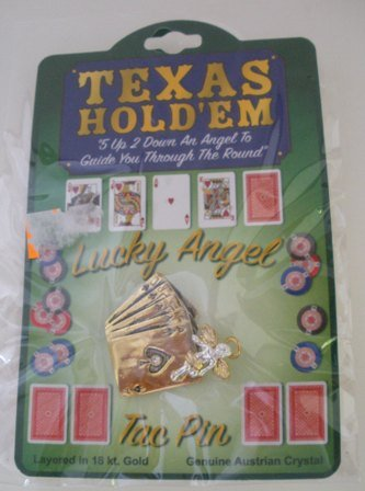Brand New Texas Hold�Em Deck of Cards Brooch/Tac Pin