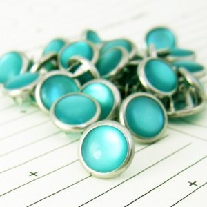 48 Teal Cowgirl Snaps Pearl Prong Western Snaps