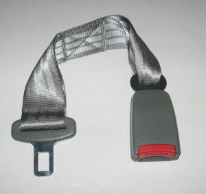 GRAY 16 INCH Seat Belt Extension Extender for 7/8inch buckle free ship to usa 7-10 days arrive
