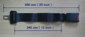"""500mm ( 20"""")Seat Belt Extension Extender 7/8 inch buckle free ship"""