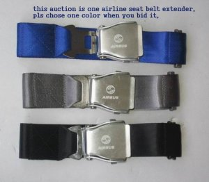 Airplane Airline Seat Belt Extension travel tool 3colors with logo free ship 7-10DAYS ARRIVE USA