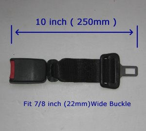 10 INCH Seat Belt Extension Extender for 7/8inch buckle FREE SHIP 7-10DAYS ARRIVE USA