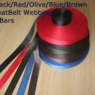 "2"" Seat Belt Webbing RED 100ft roll 5 BAR FREE SHIP FROM CHINA"