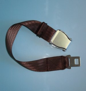 Airplane Airline Seat Belt Extension Extender travel tool In Brown free ship 7-10days arrive USA
