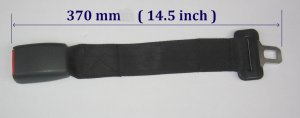 Hyundai Santa Seat Belt Extension Extender For 25mm Wide Buckle Add 14� length