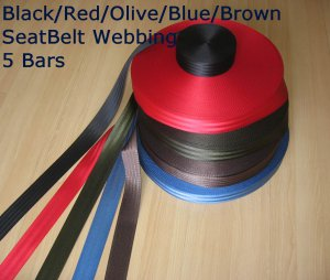 "10 meter ROLL 2"" SEAT BELT SAFETY STRAP WEBBING Break Strength 2500KG 7 COLORS"